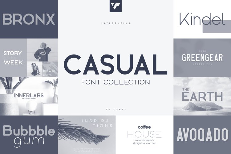 Casual Font Collection - 29 fonts example image 1