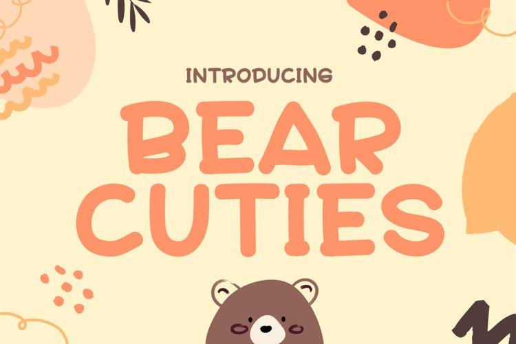 Bear Cuties - Cute Display Font example image 1