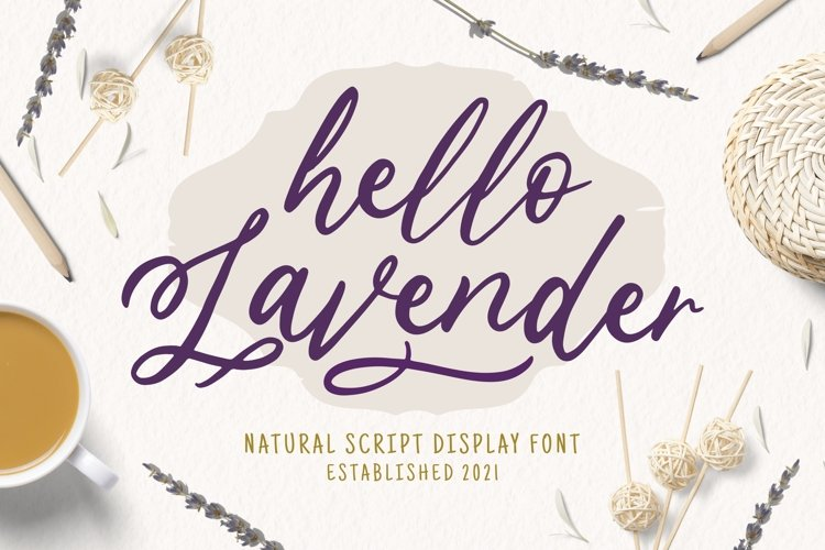 Lavender Font example image 1