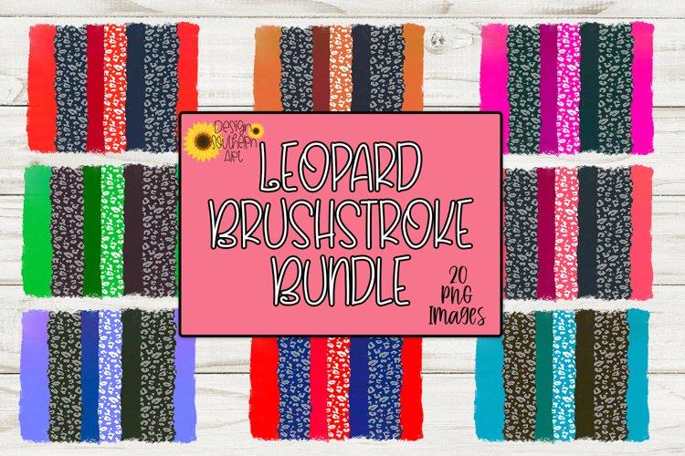 Leopard Brushstroke Sublimation Bundle - Leopard Background