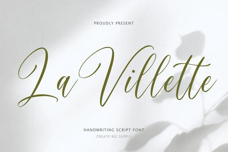La Villette Handwriting Script Font