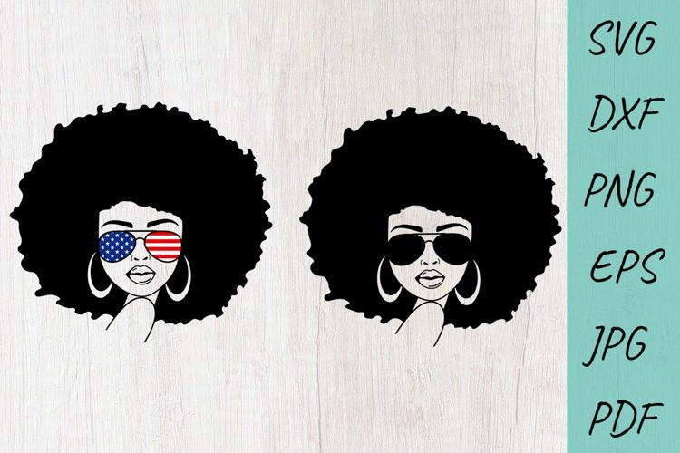 Afro Women SVG, African American Woman, Black woman