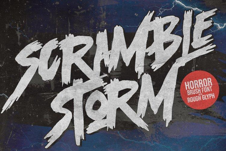 Scramble Storm - Bold handmade Rough Brush Font example image 1