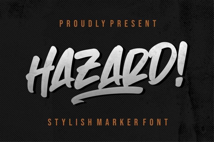 Hazard! STYLISH MARKER FONT example image 1