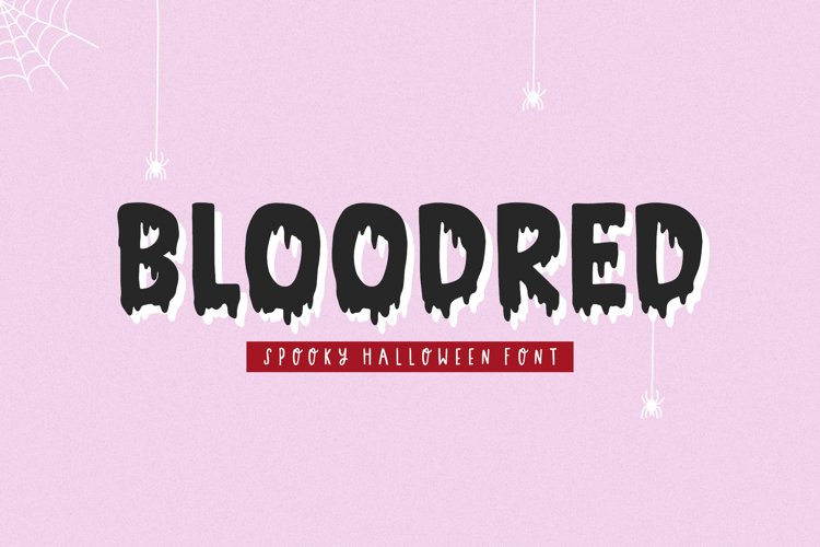 Bloodred / Spooky Halloween font example image 1