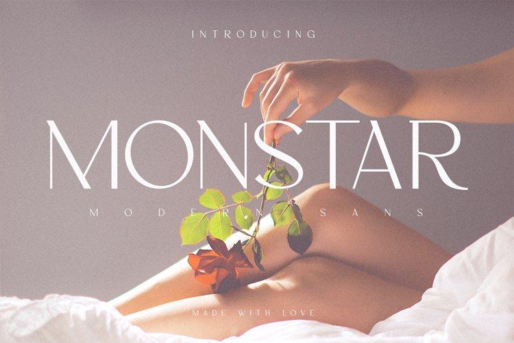 Monstar   Modern Sans example image 1
