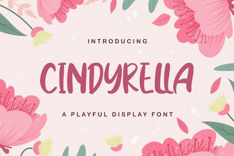 Cindyrella - Playful Display Font