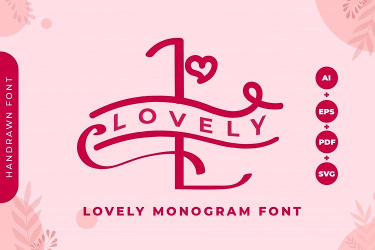 Monogram Lovely Font example image 1