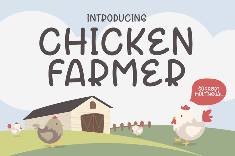 Chicken Farmer - Cute Display Font example image 1