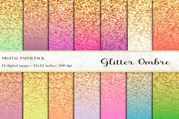 Glitter Ombre Digital Papers
