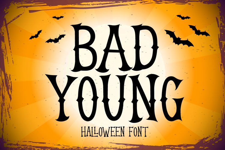 Bad Young - a Halloween Font