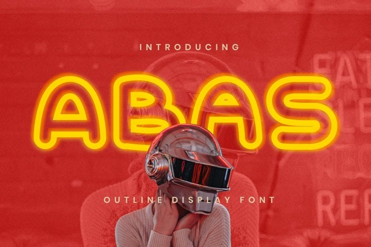 Abas Font example image 1