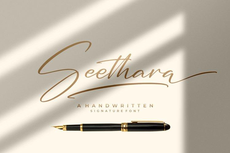 Seethara - Signature Font example image 1