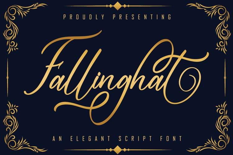 Fallinghat An Elegant Script example image 1