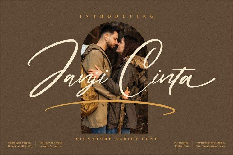 Janji Cinta - Signature Script Font