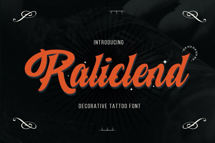 Raliclend - A Decorative Tattoo Font example image 1