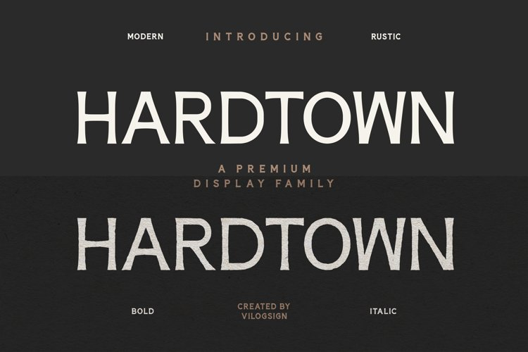 Hardtown a Vintage Sans Serif Display Font Family example image 1