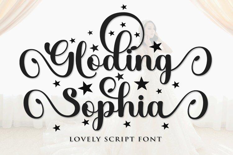 Gloding Sophia Script example image 1