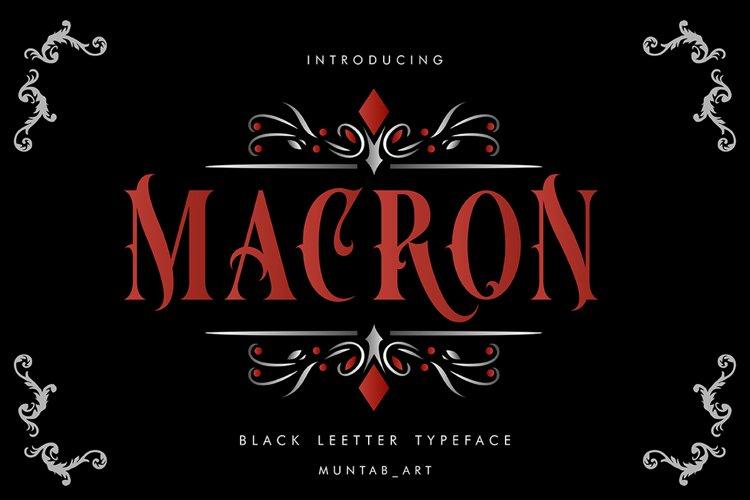 Macron   Vintorian Font example image 1