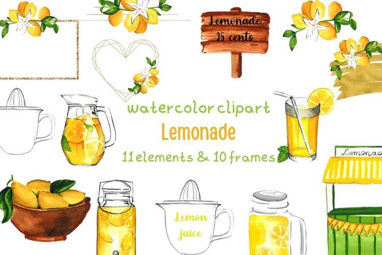 Lemonade Stand, Summer Clipart, Lemon Wall Art
