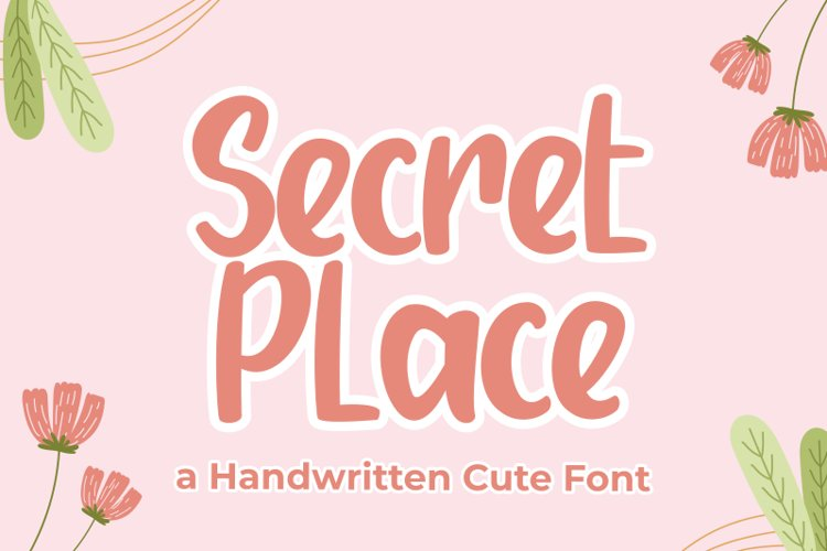 Secret Place - Handwritten Font example image 1