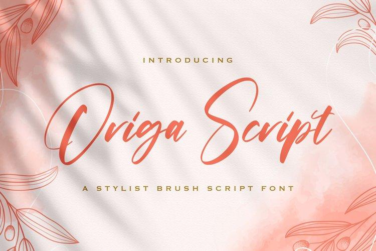 Origa Script - Handwritten Font example image 1