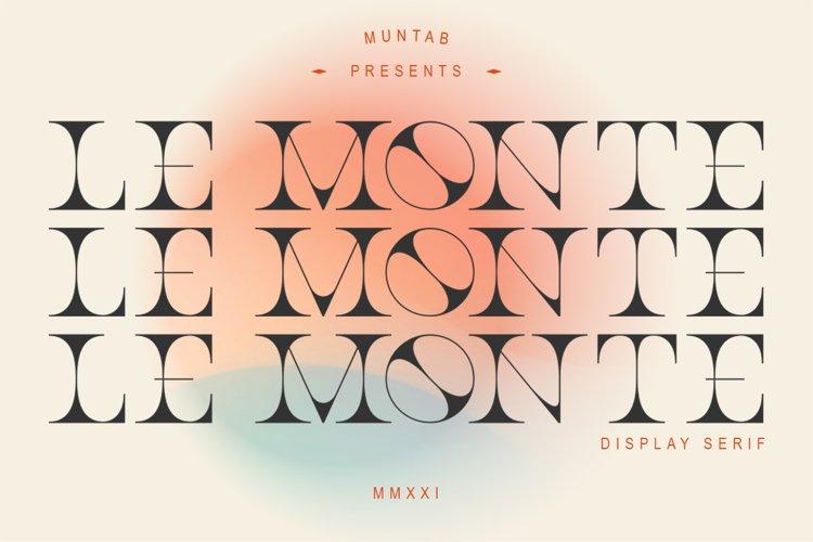 Le Monte | Serif Display example image 1