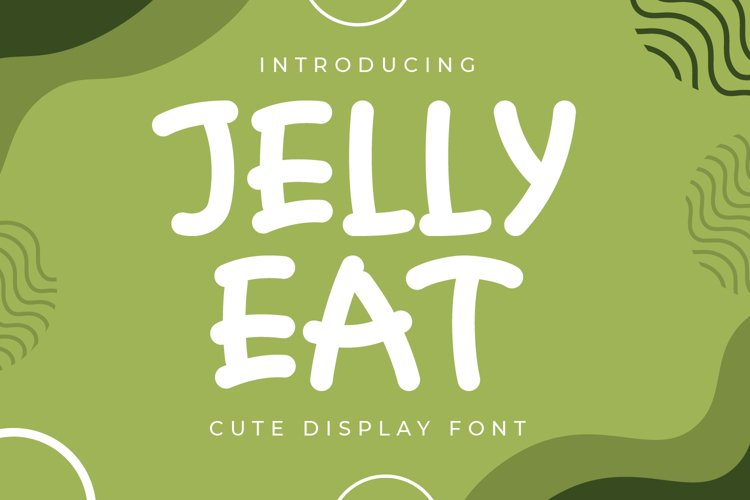 Jelly Eat - Cute Display Font example image 1
