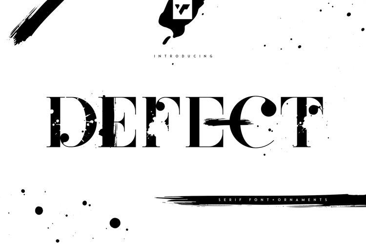 Defect - Creative Serif Font example image 1