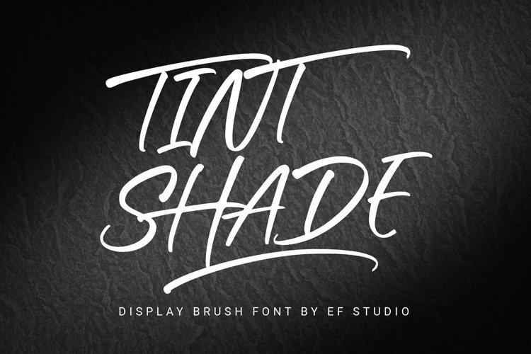Tint Shade | Display Brush Font example image 1