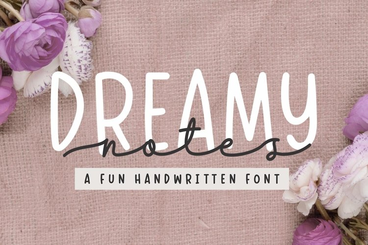 Dreamy Notes - Font Duo example image 1