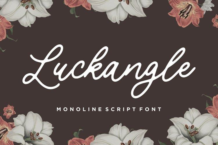 Luckangle Monoline Script Font example image 1
