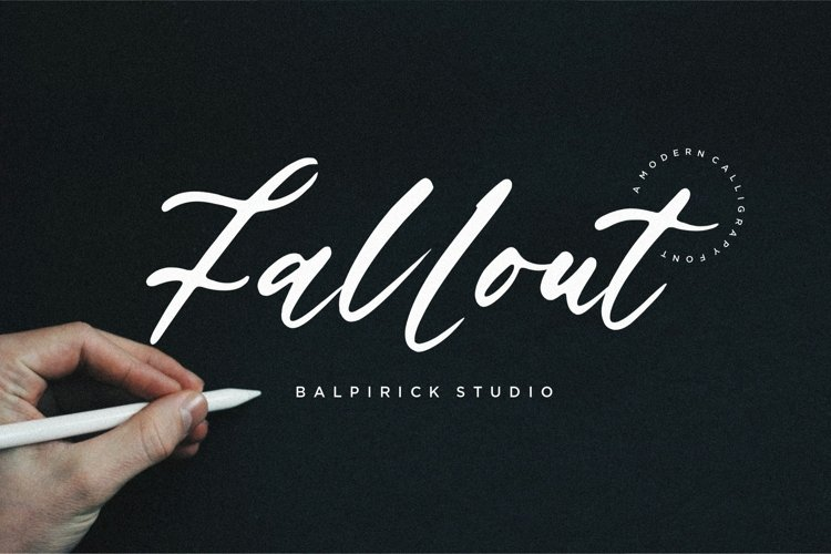 Fallout Modern Calligraphy Font example image 1