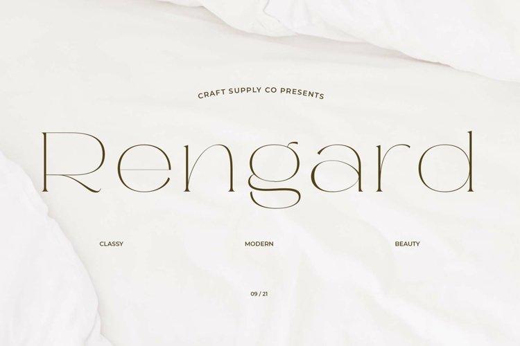 Rengard - Modern Serif Typeface example image 1