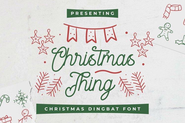 ChristmasThing Font example image 1