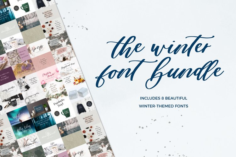 The Winter Font Bundle example image 1