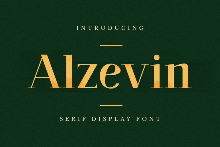 Alzelvin Font example image 1