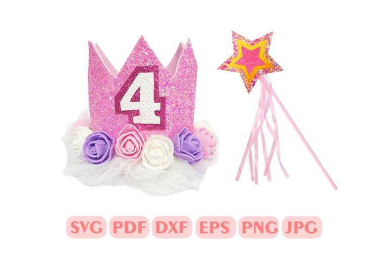 Diy Birthday crown Template SVG, Princess crown template