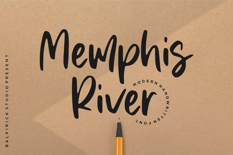 Memphis River Modern Handwritten Font example image 1