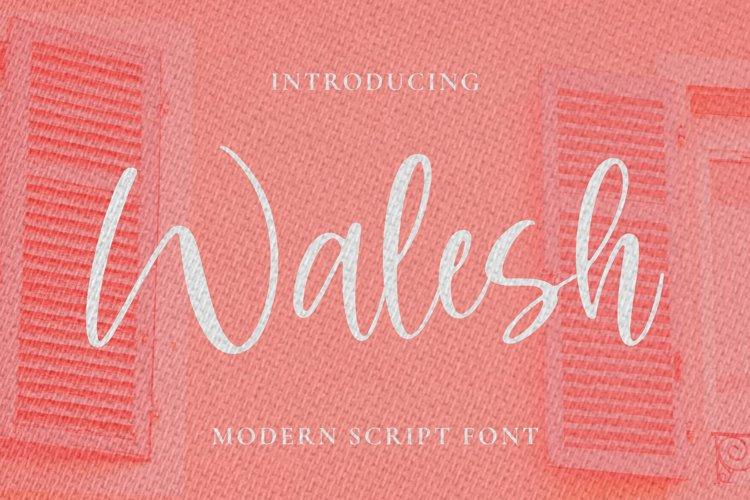 Walesh Font example image 1