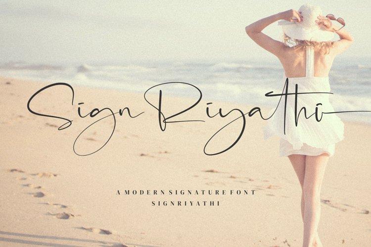 SignRiyathi - Modern Signature Font example image 1