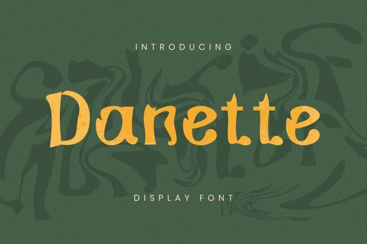 Danette Font example image 1