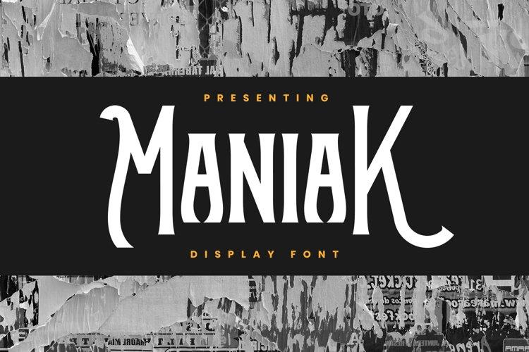 Maniak Font example image 1