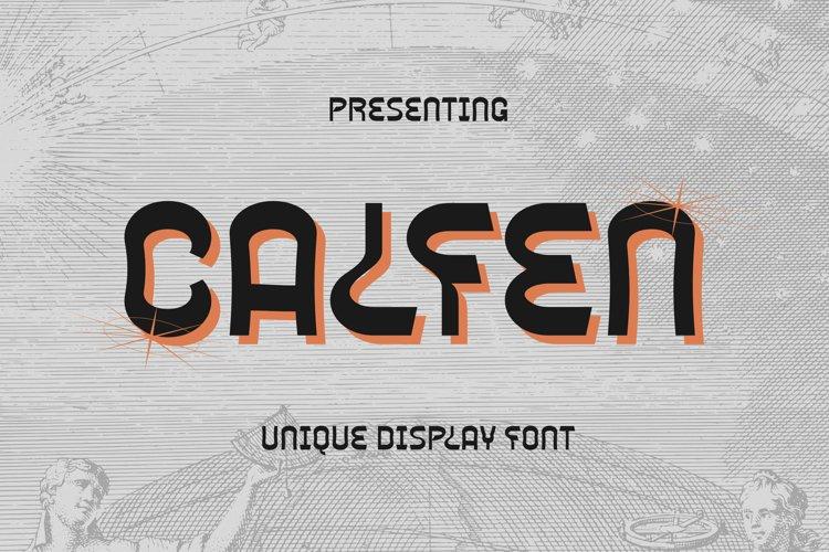 Calfen Font example image 1