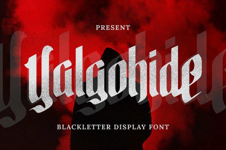 Yalgohide Font example image 1
