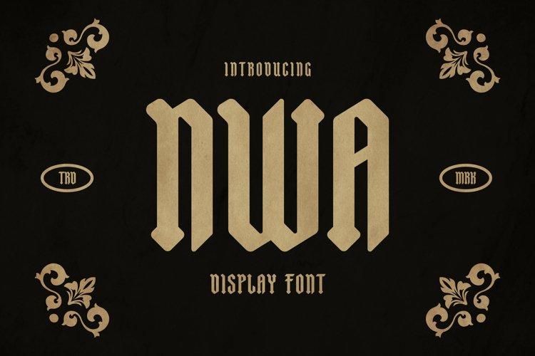 NWA Font example image 1