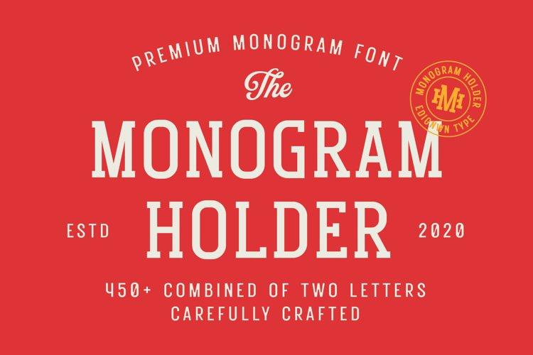 Monogram Holder - Display Font example image 1
