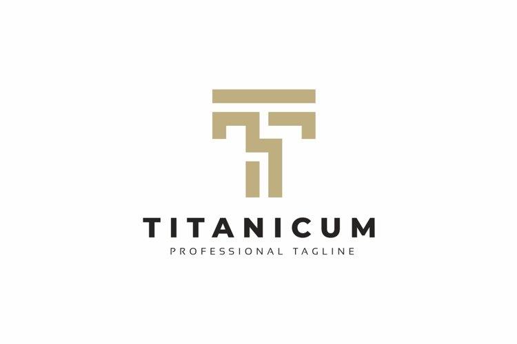 Titanicum T Letter Logo example image 1