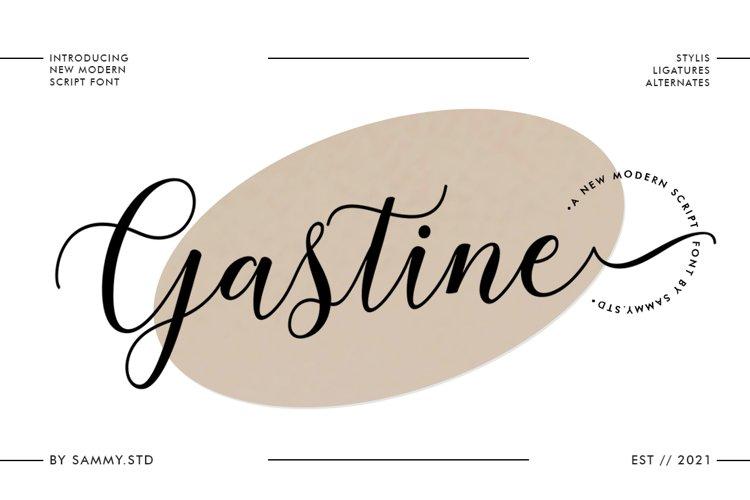 Gastine Script example image 1