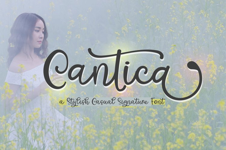 Cantica Script - A Hand-Written Calligraphy Font example image 1